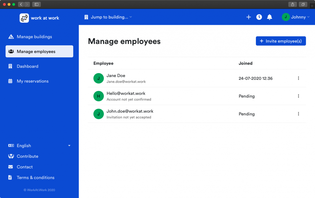 Employees overview