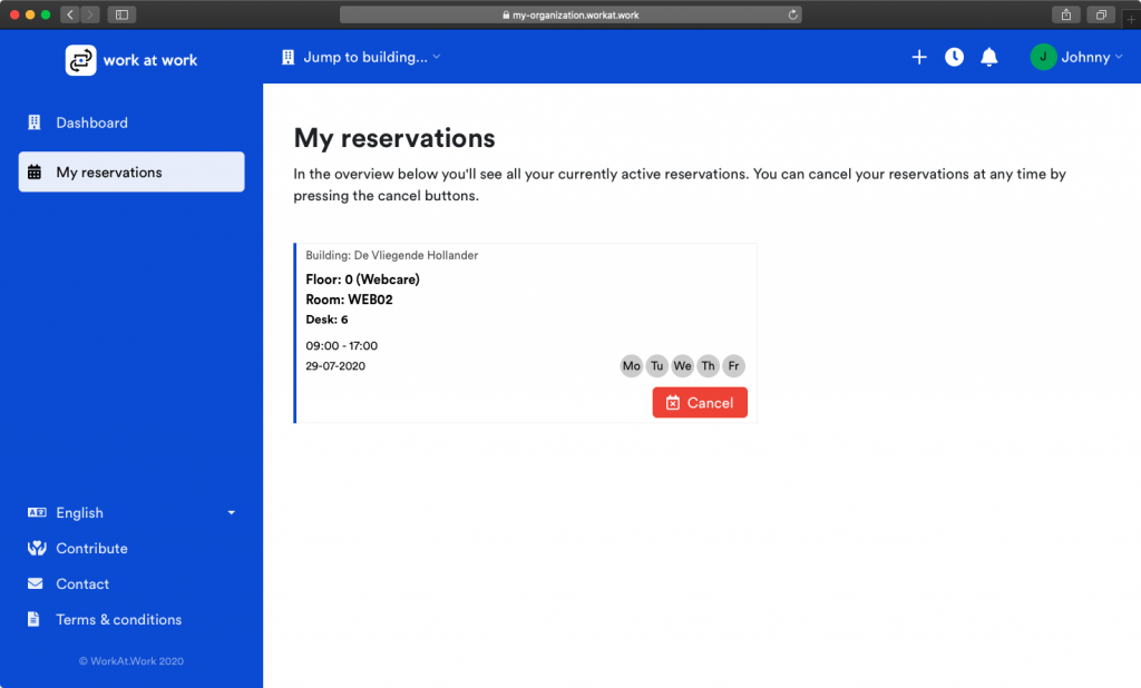 My reservations overview